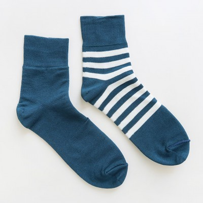 decka quality socks デカクォリティソックス|REVERSIBLE/ PLAIN×STRIPES SOCKS