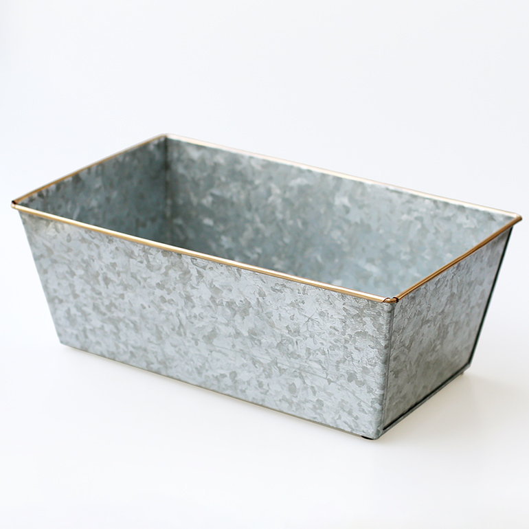 "HERE ヒア|Galvanized Plant Cover ""Rectangle 32"""
