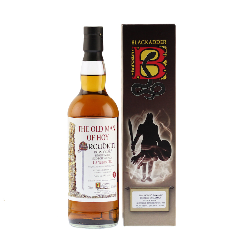 BLACKADDER THE OLD MAN OF HOY ORCADIAN RAW CASK 2006 13YO SHERRY CASK FINISH Cask REF:OMH 2019-4 60.3%
