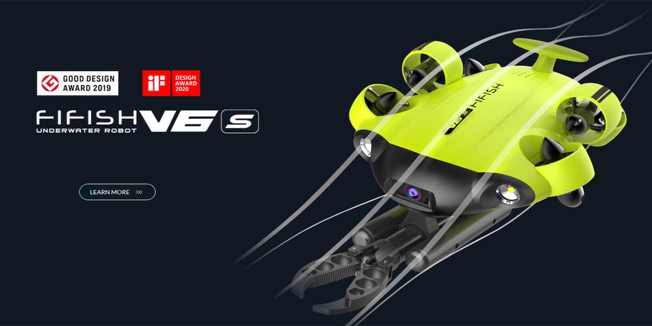 FIFISH V6S アーム付き!外部給電対応ROV