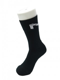 NILoS(ニルズ)-UN-COTTON STRAIGHT YARN NIL SOCKS・BLACK