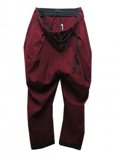 SALE50%OFF/KMRii(ケムリ)Cotton/Rayon/Linen Twill Jodhpurs Pants/RED.