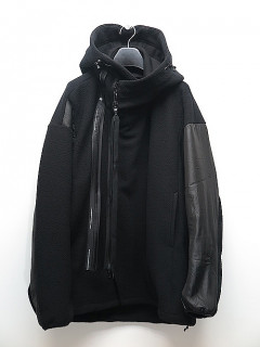 NIL/S・ニルズ/BRUSHED MICRO FLEECE ZIP HOODIE/BLACK