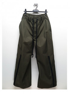 Ground Y・グラウンドワイ/Cotton canvas Easy jopper pants/KHAKI.
