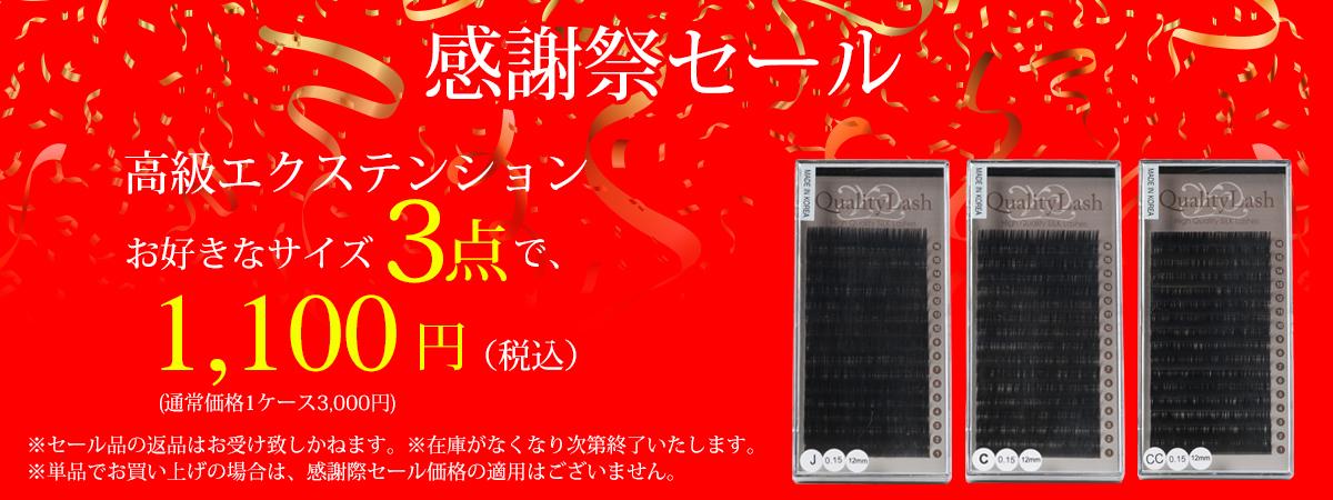 エクステ3ケース1100円