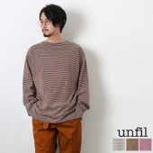 ◎◎[wzsp-um238] unfil(アンフィル)<br>striped organic cotton jersey boatneck tee<br>【メール便対象外】fIOI【SUMMER SALE 50%OFF】